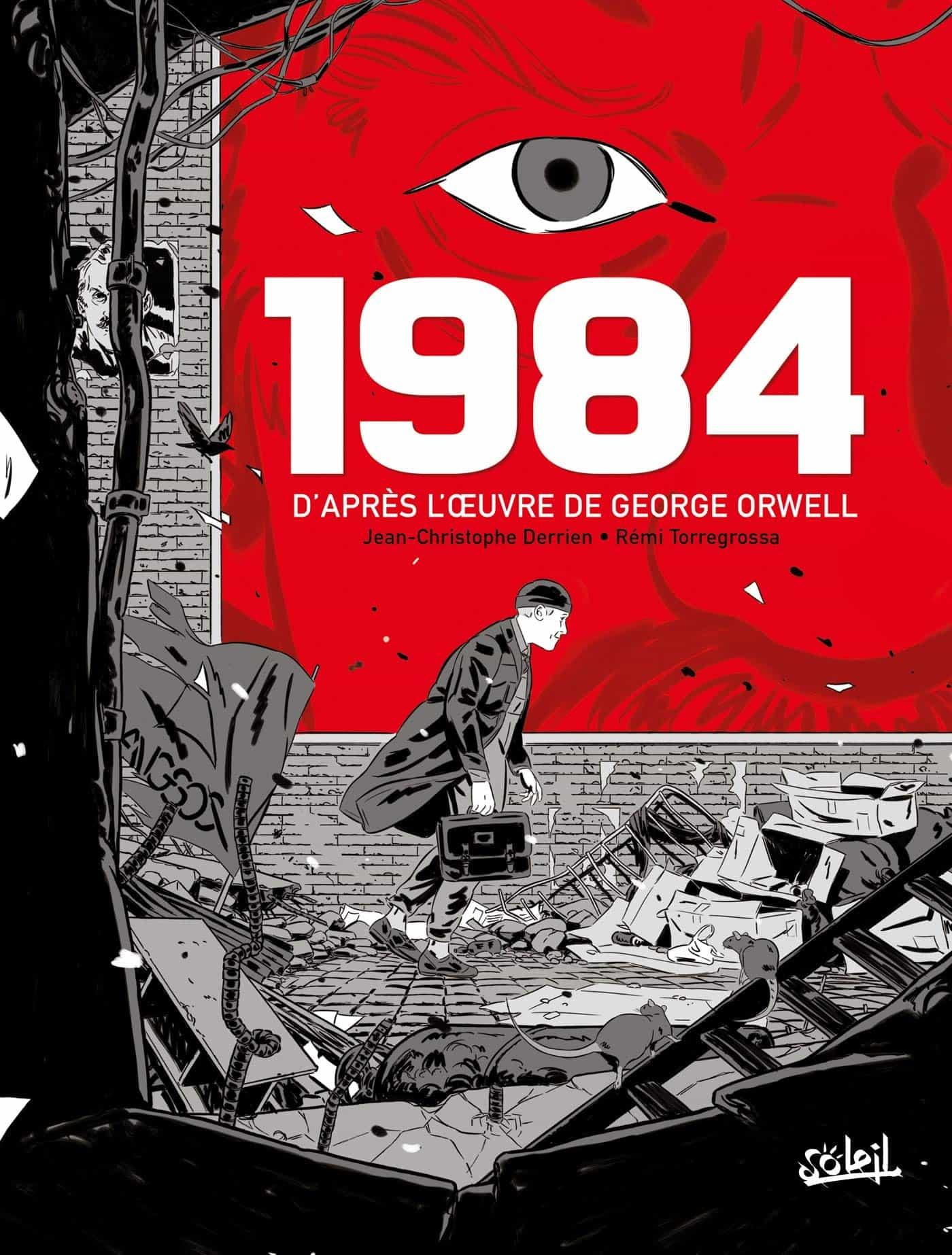 « 1984 » (Soleil, 2021) : couverture et premières planches.