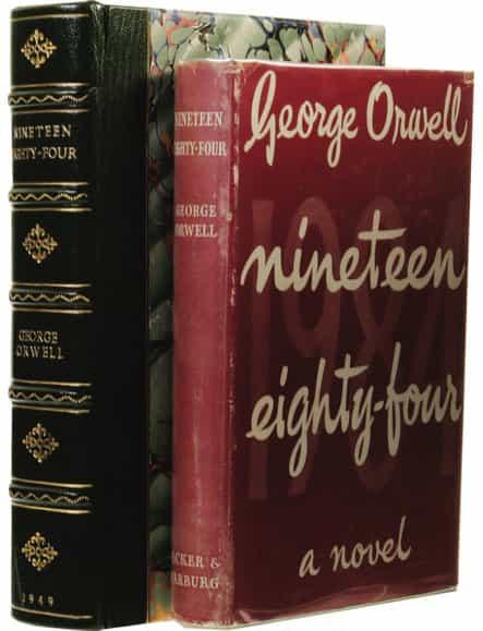 Couverture de la première édition de « 1984 » (London: Secker & Warburg, 1949).