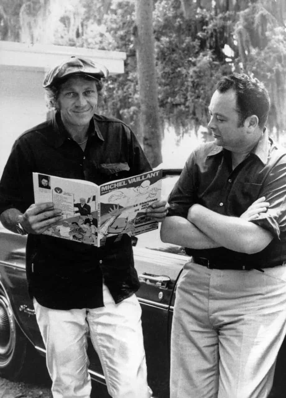 Avec l'acteur Steve McQueen.