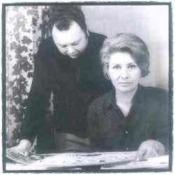 Francine Graton avec son mari.