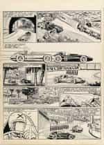 Planche originale du « Pilote sans visage », en 1960.