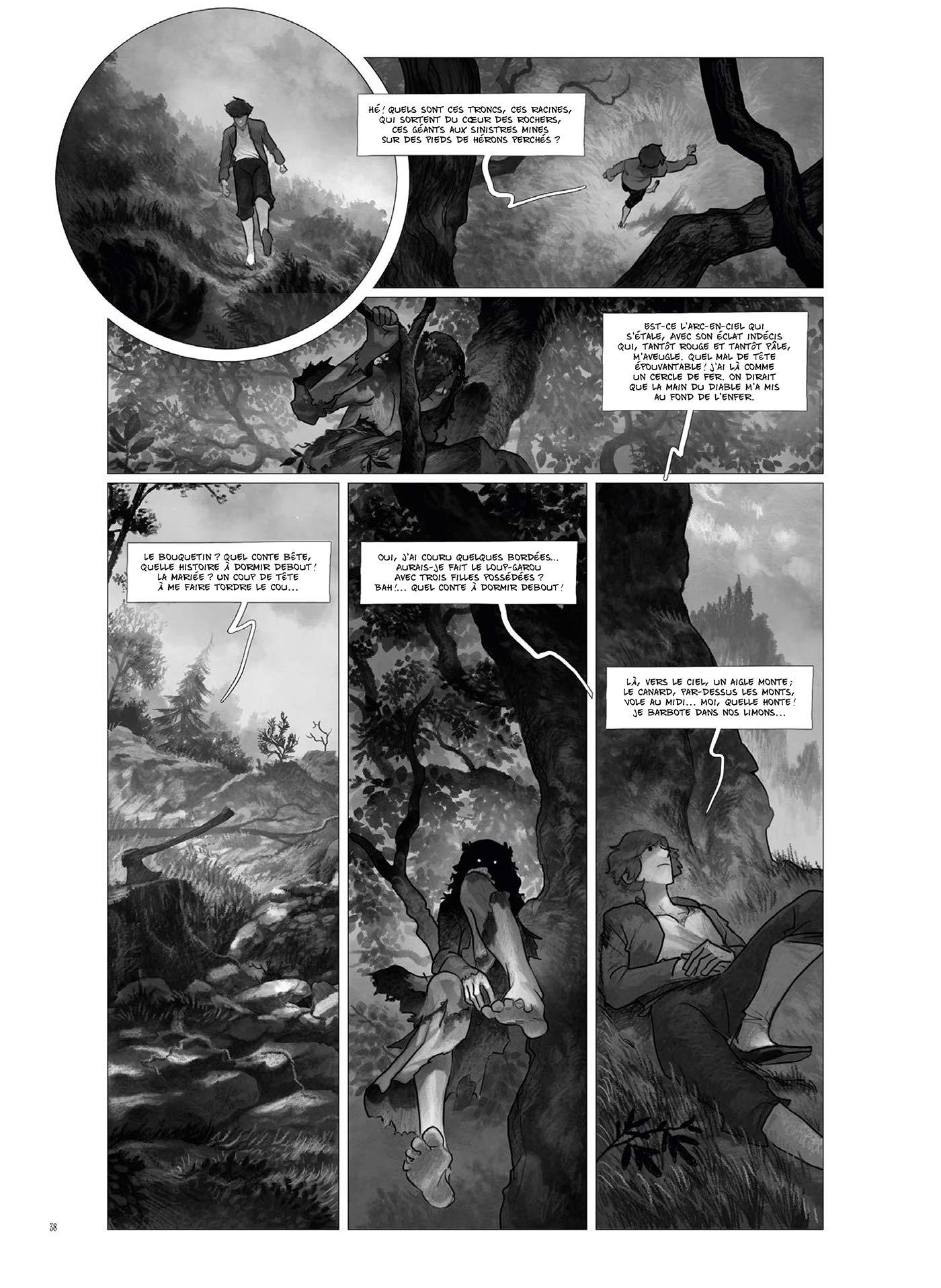 Les obscurs chemins du fantastique (planche 38 ; Soleil, 2021).