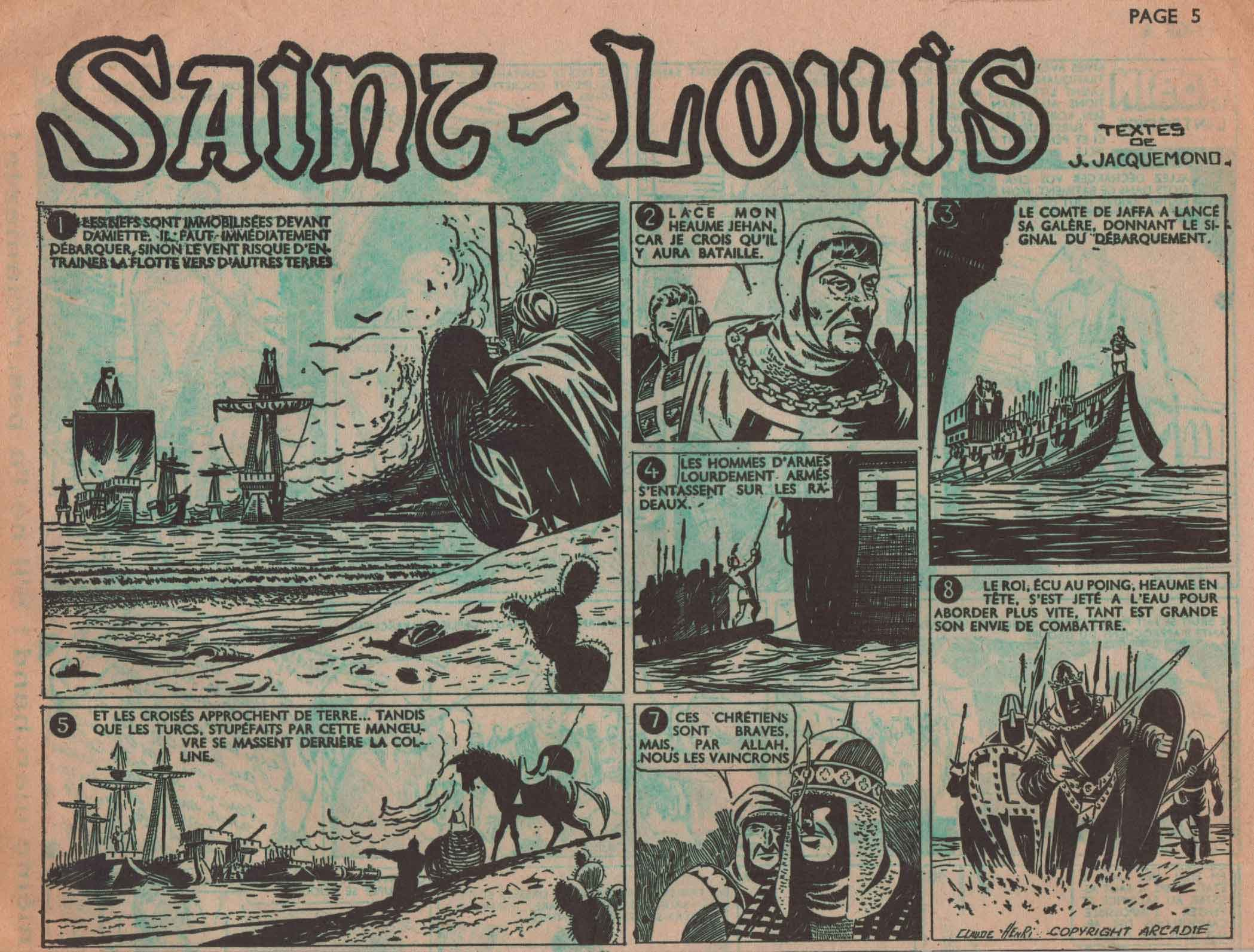 « Saint Louis » Zorro n° 217 (21/08/1950).