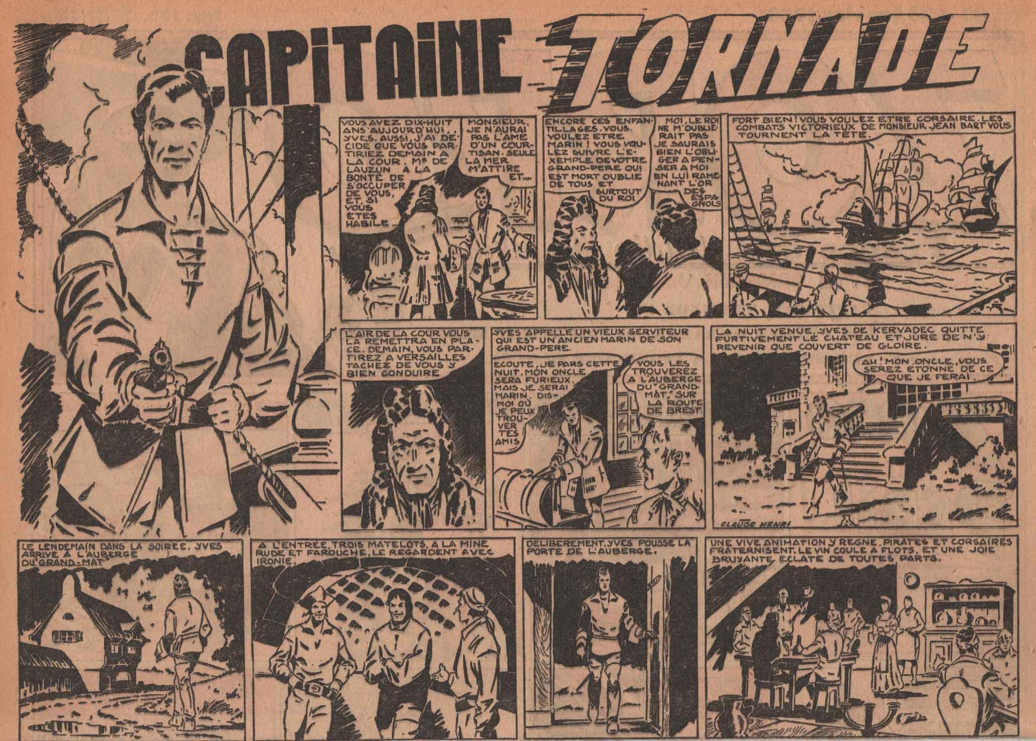 « Capitaine Tornade » Zorro n° 85 (25/01/1948).