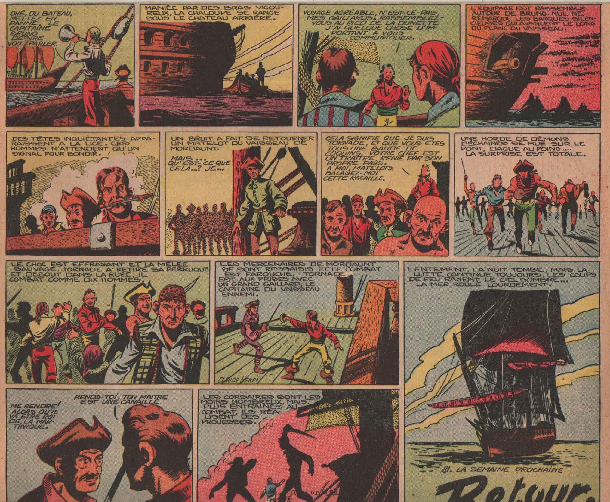 « Capitaine Tornade » Zorro n° 165 (09/01/1949).