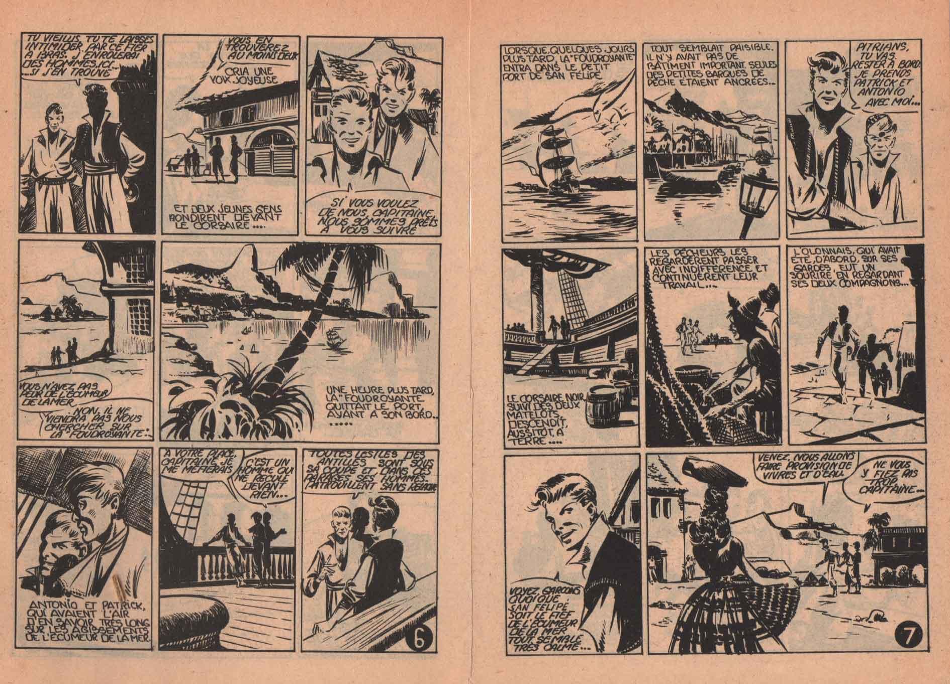 « Le Corsaire noir » Hoppy n° 7 (07/1955).