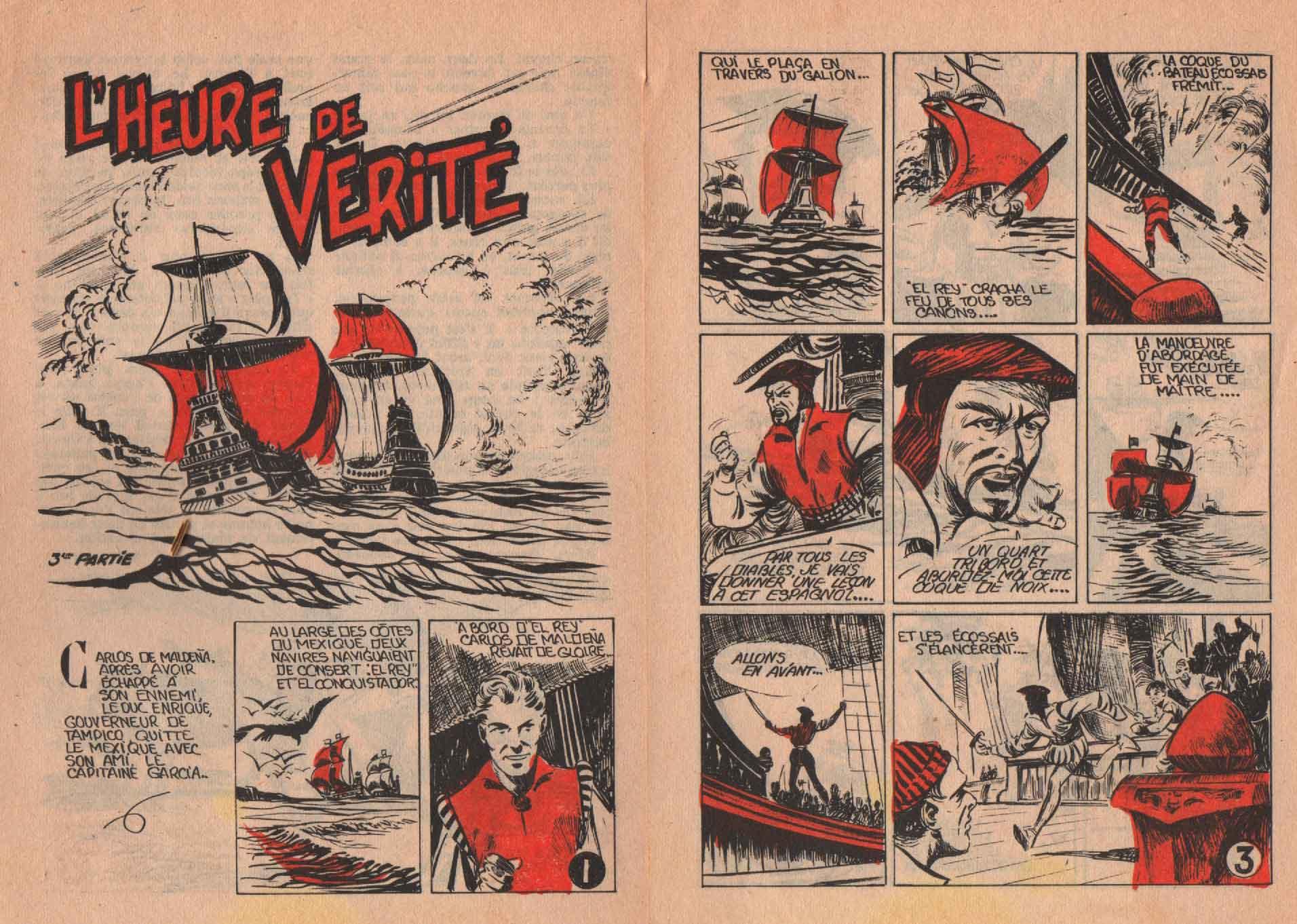 « L'Heure de vérité » Caramba n° 3 (08/1955).