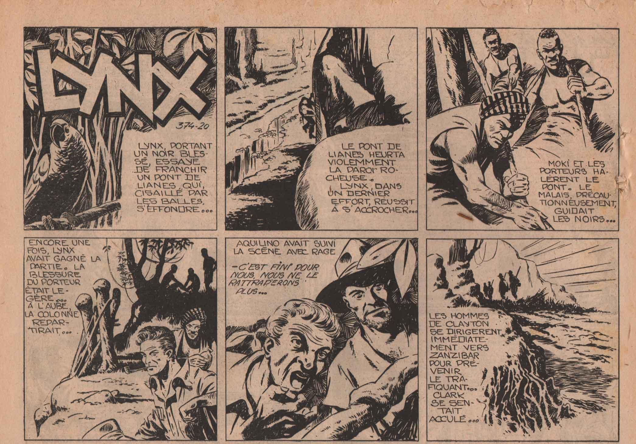 « Lynx blanc » Vaillant n° 374 (13/07/1952).