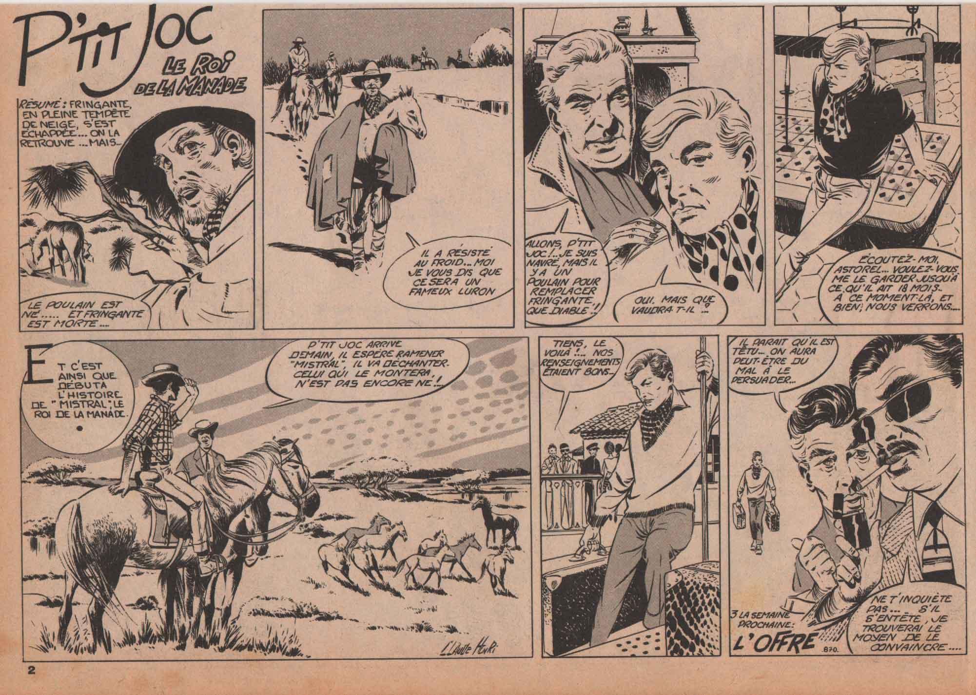 « P'tit Joc » Vaillant n° 870 (14/01/1962).
