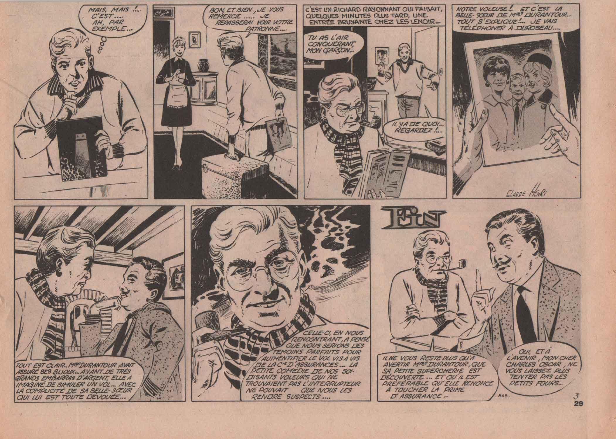 « Charles Oscar » Vaillant n° 869 (07/01/1962).