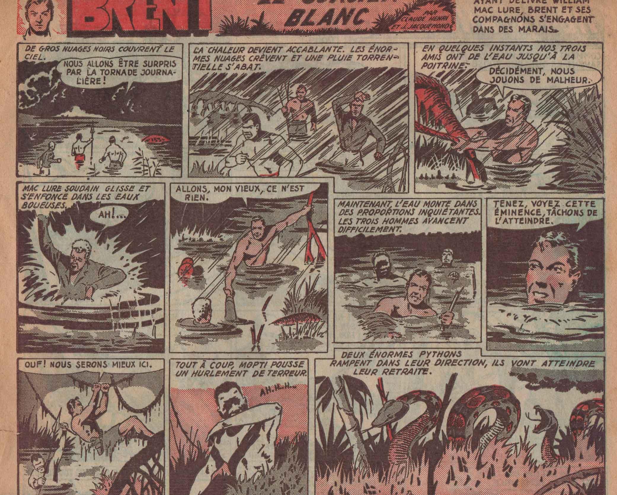 « Brent, le sorcier blanc » Récréation n° 67 (04/09/1947).