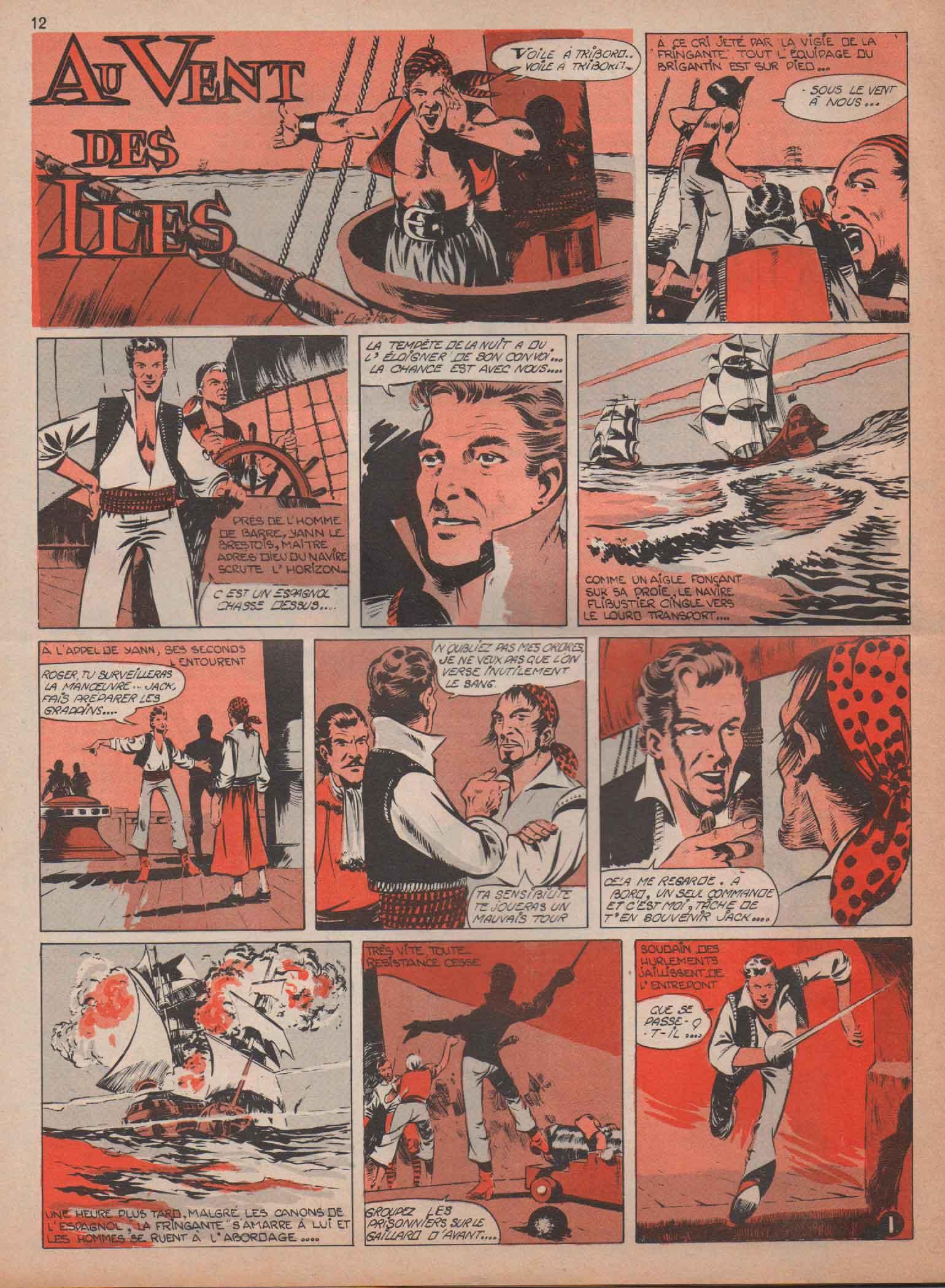 « Au vent des îles » Ima n° 123 (25/01/1958).