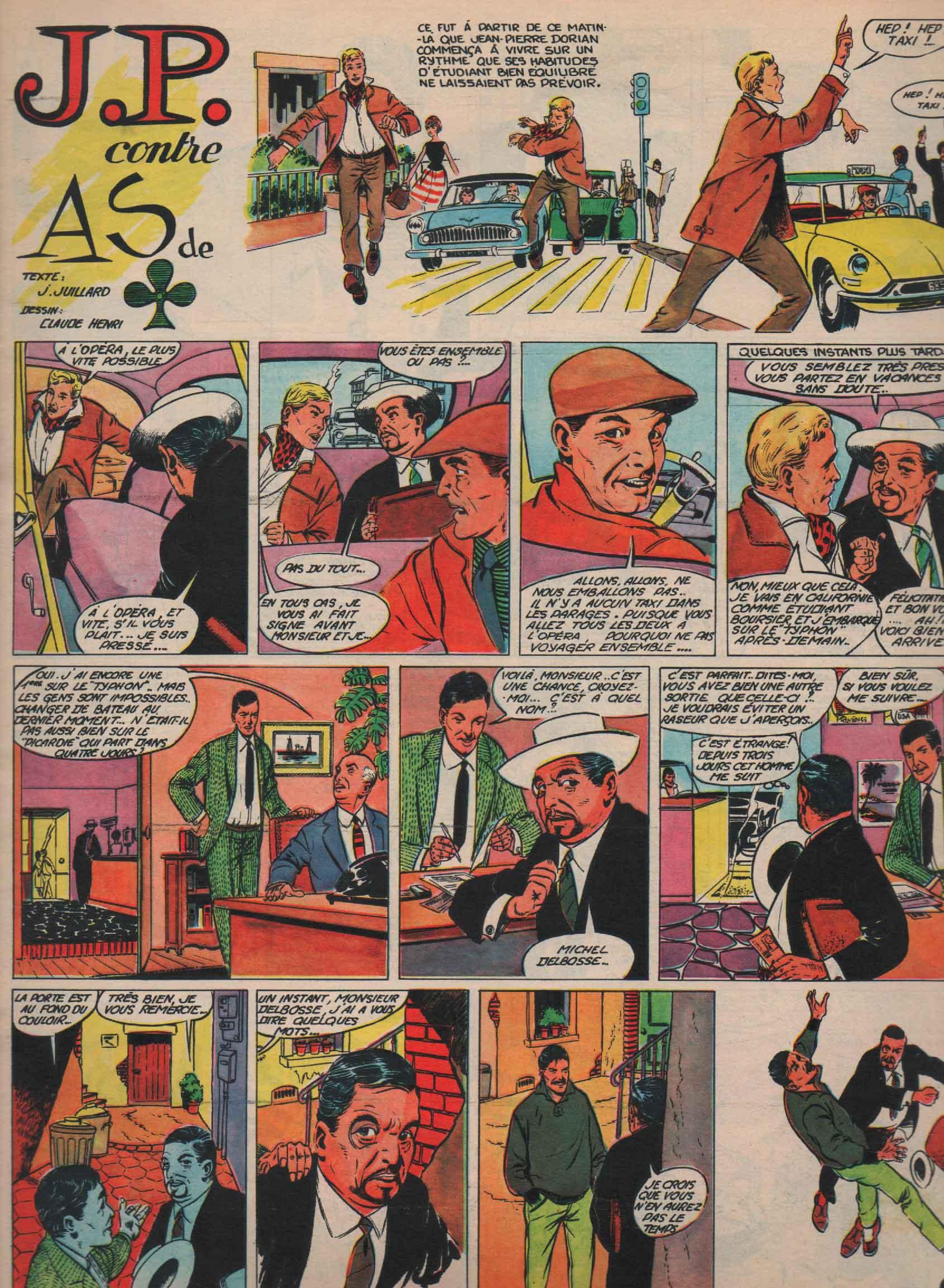 « J. P. contre As de pic » Pilote n° 134 (17/05/1962).