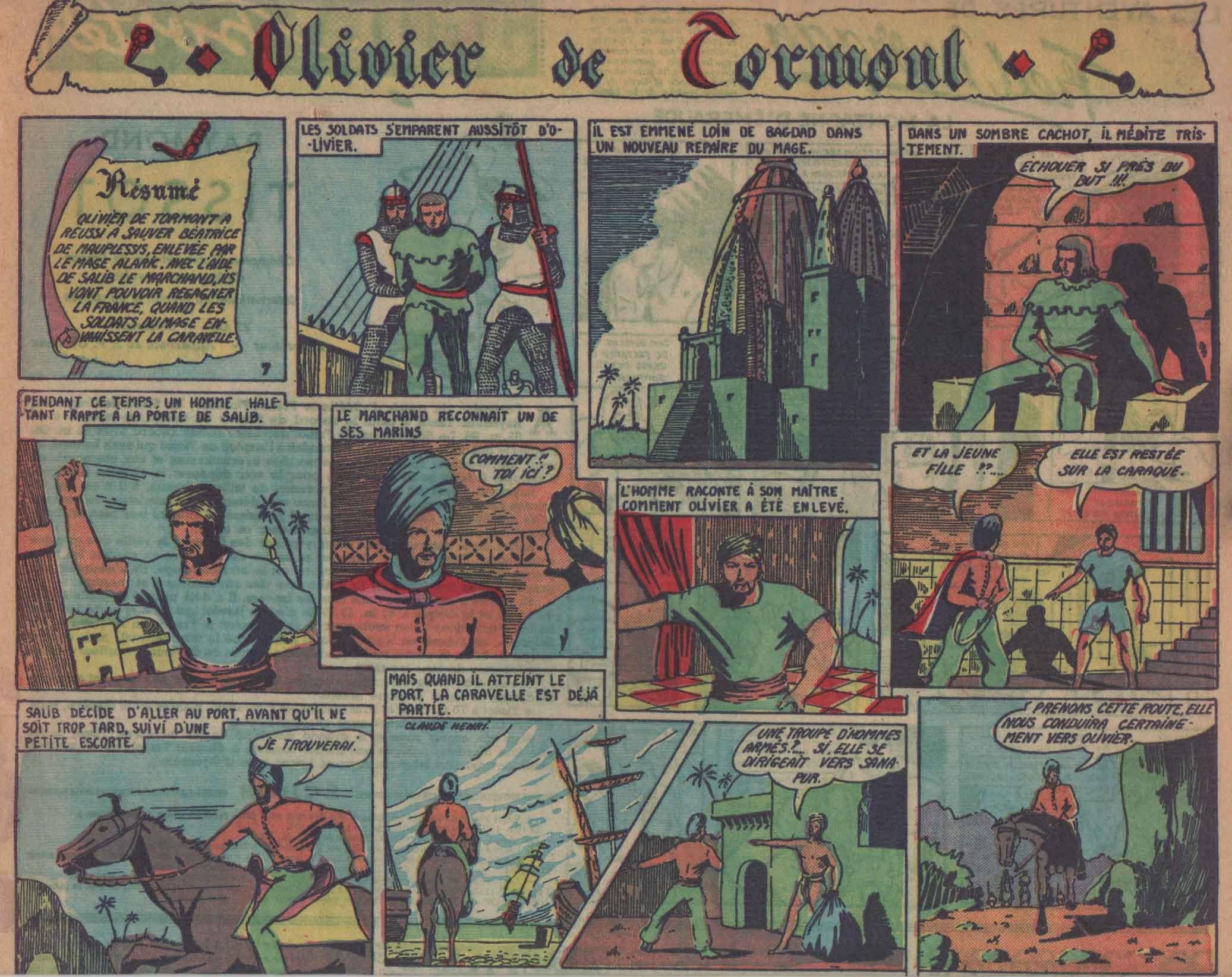 « Olivier de Tormont » Jeudi magazine n° 23 (07/11/1946).