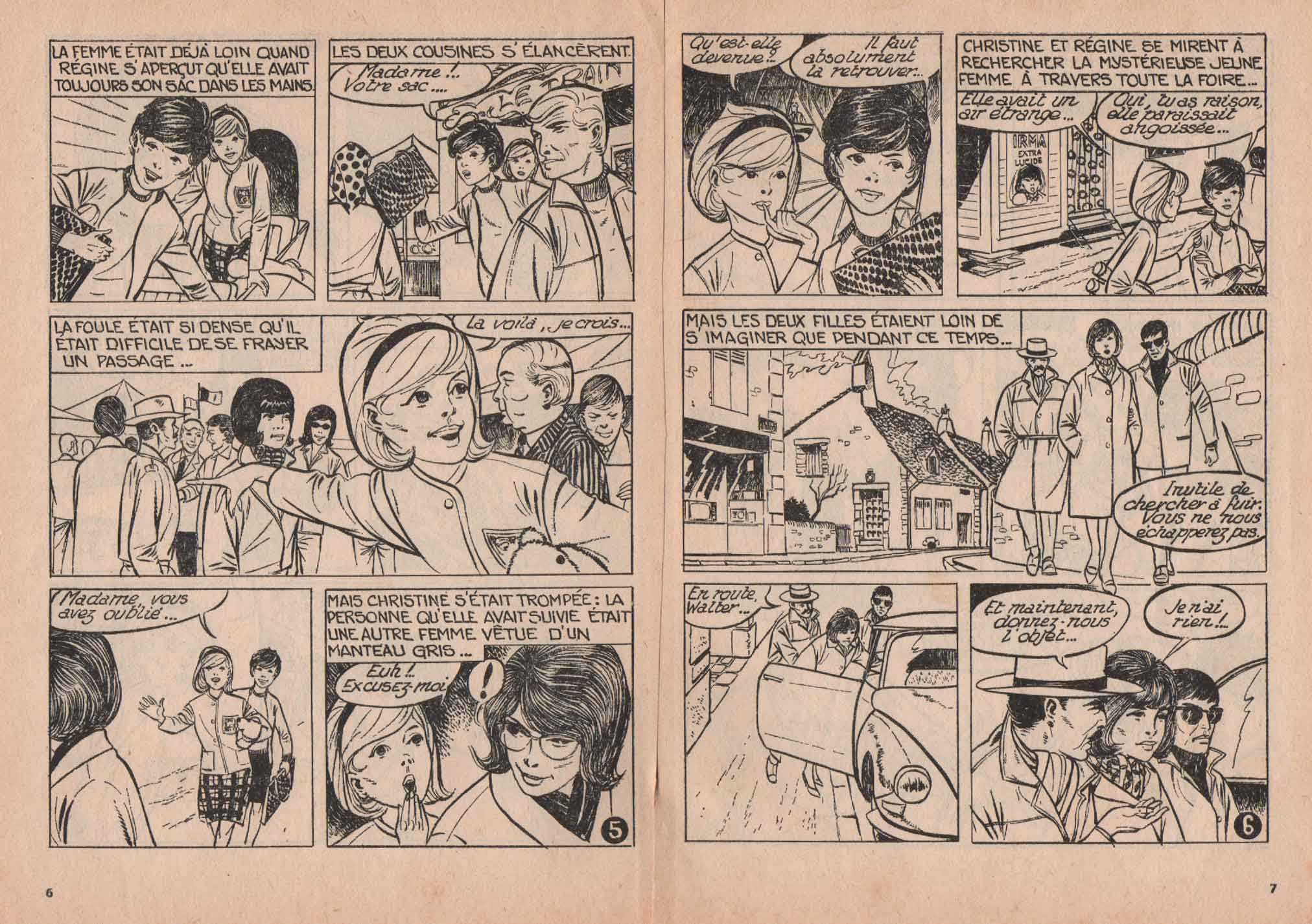 « La Femme en gris » Lisette magazine n° 37 (11/1965).