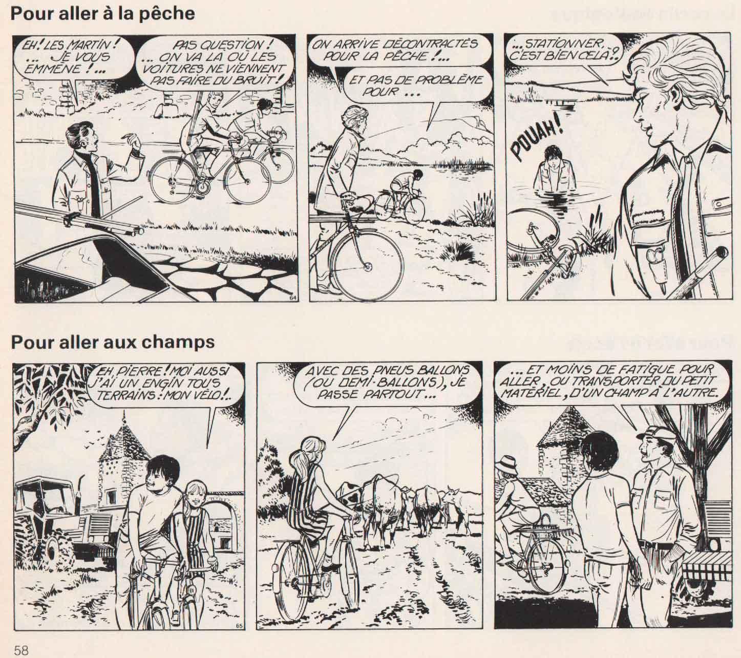 « La Bicyclette » Chancerel/Fleurus (1978).