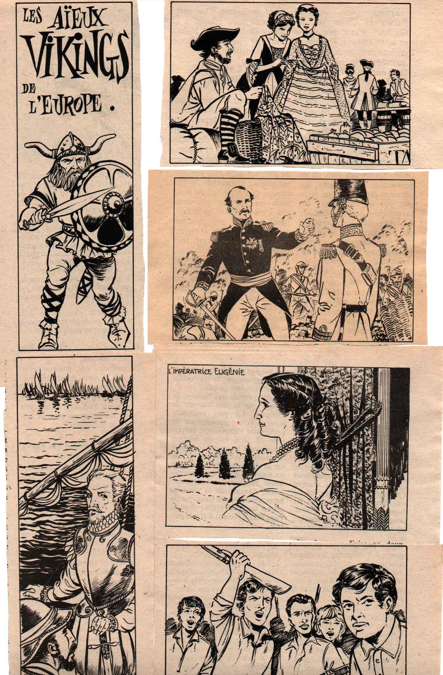 Illustrations Aventures et voyages.