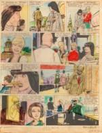 Planche originale et film de coloriage de la page 1 de « L'Étrange Boiteux » J2 magazine n° 22 (01/06/1967),