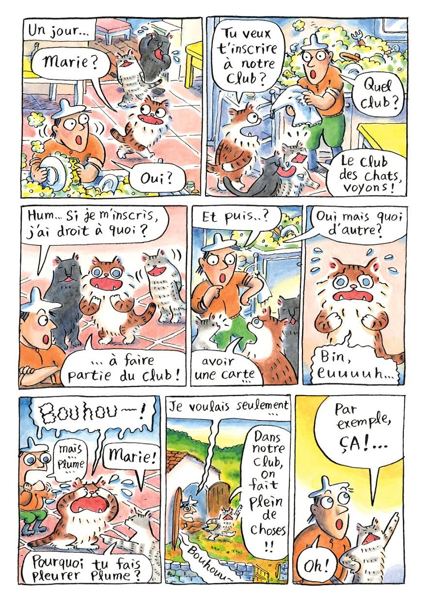 Où est le club des chats ? page 9.