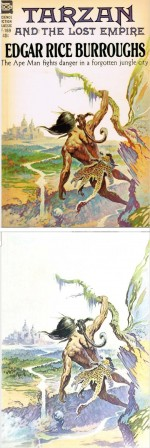 Quand Frazetta illustrait « Tarzan et l'empire perdu » en 1962 (couverture Ace Books).