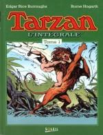 Couverture du premier volume de l'intégrale « Tarzan », paru en 1993 chez Soleil et regroupant des histoires dessinées par Burne Hogarth.