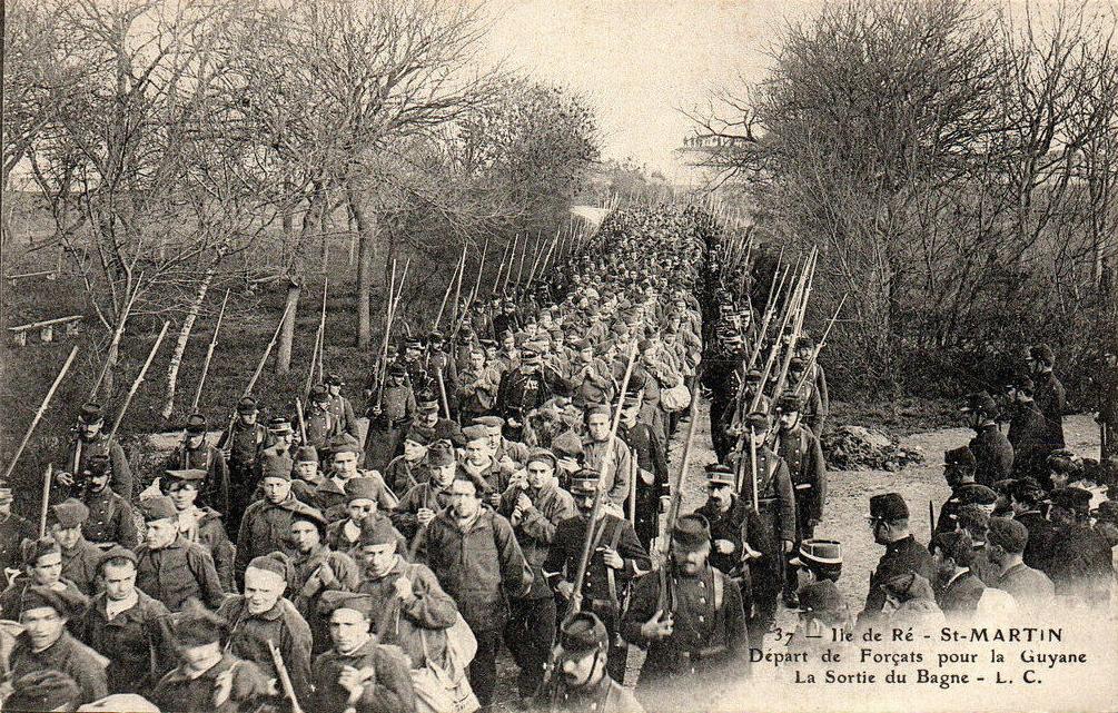 Le départ et l'embarquement des forçats dans les années 1910.