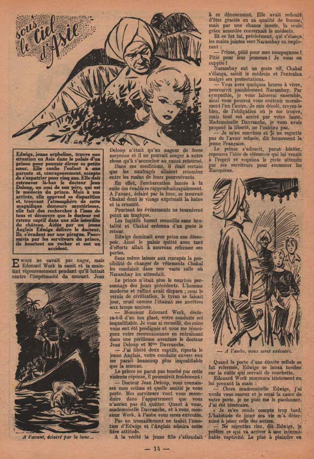 « Sous le ciel d'Asie » Fillette n° 388 (24/12/1953).