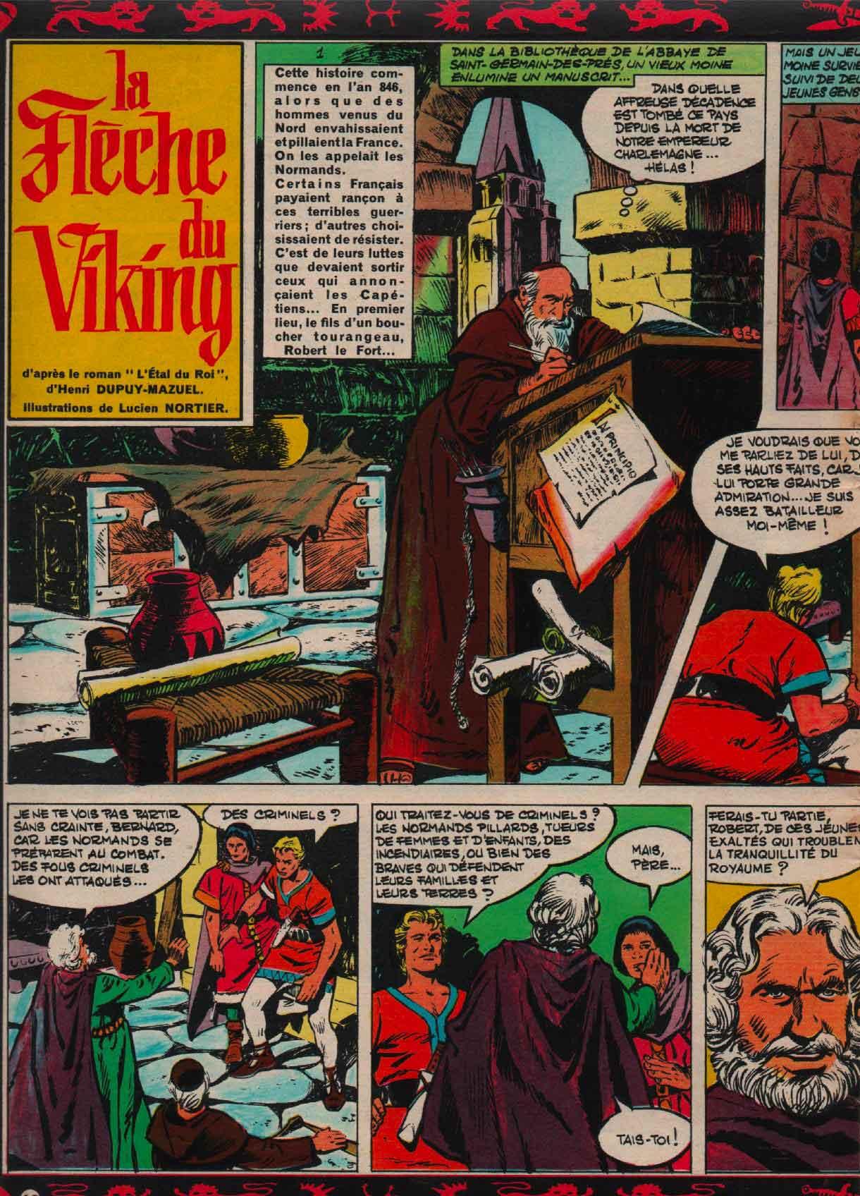 « La Flèche du Viking » Journal de Mickey n° 891 (13/07/1969).