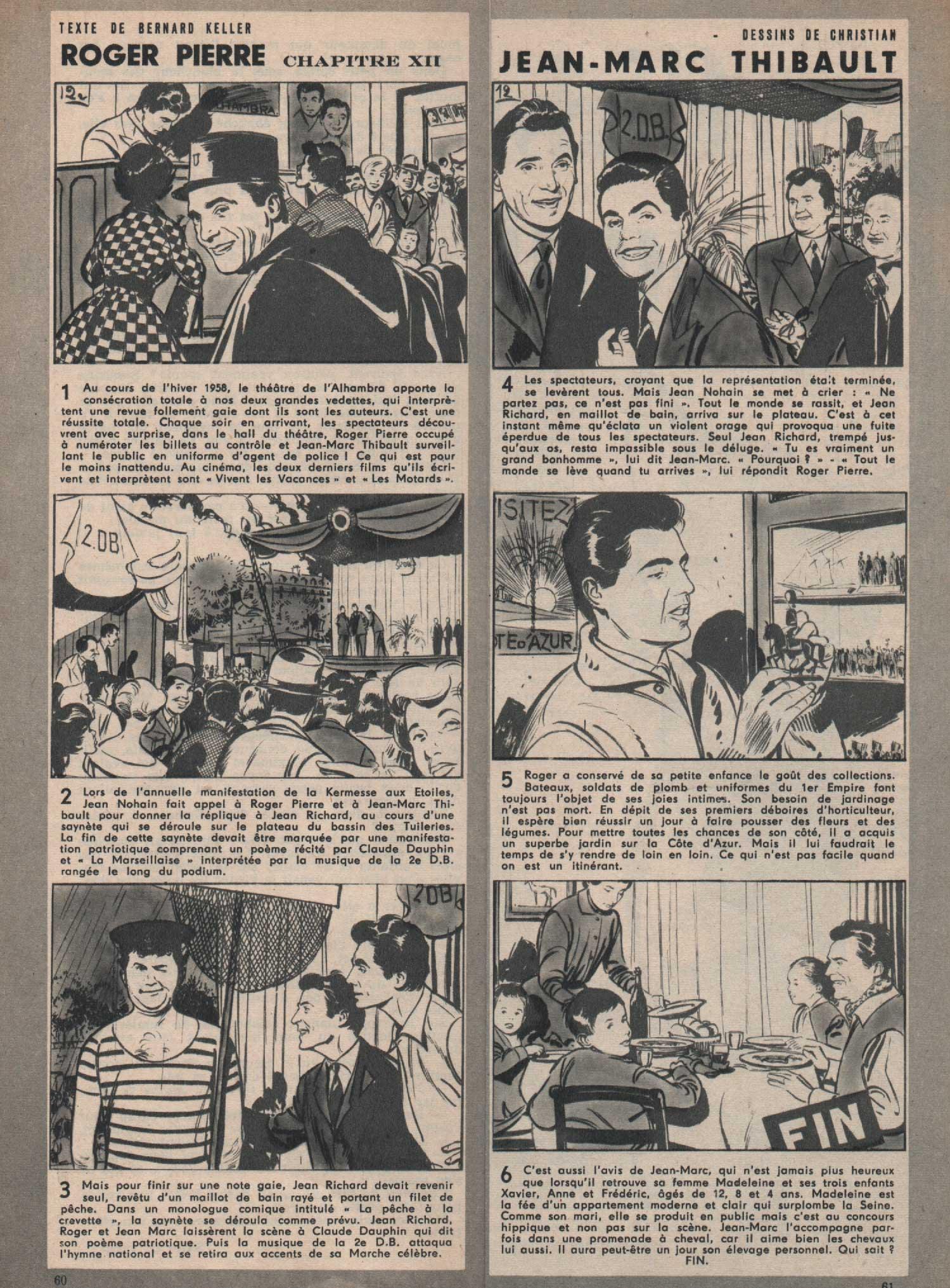 « Roger Pierre et Jean-Marc Thibault » Lectures d'aujourd'hui n° 383 (19/01/1960).