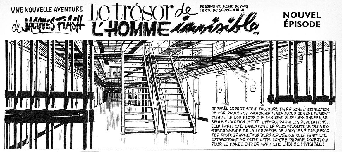 Un épisode de « Jacques Flash » scénarios par Georges Rieu, dans Vaillant n° 878.