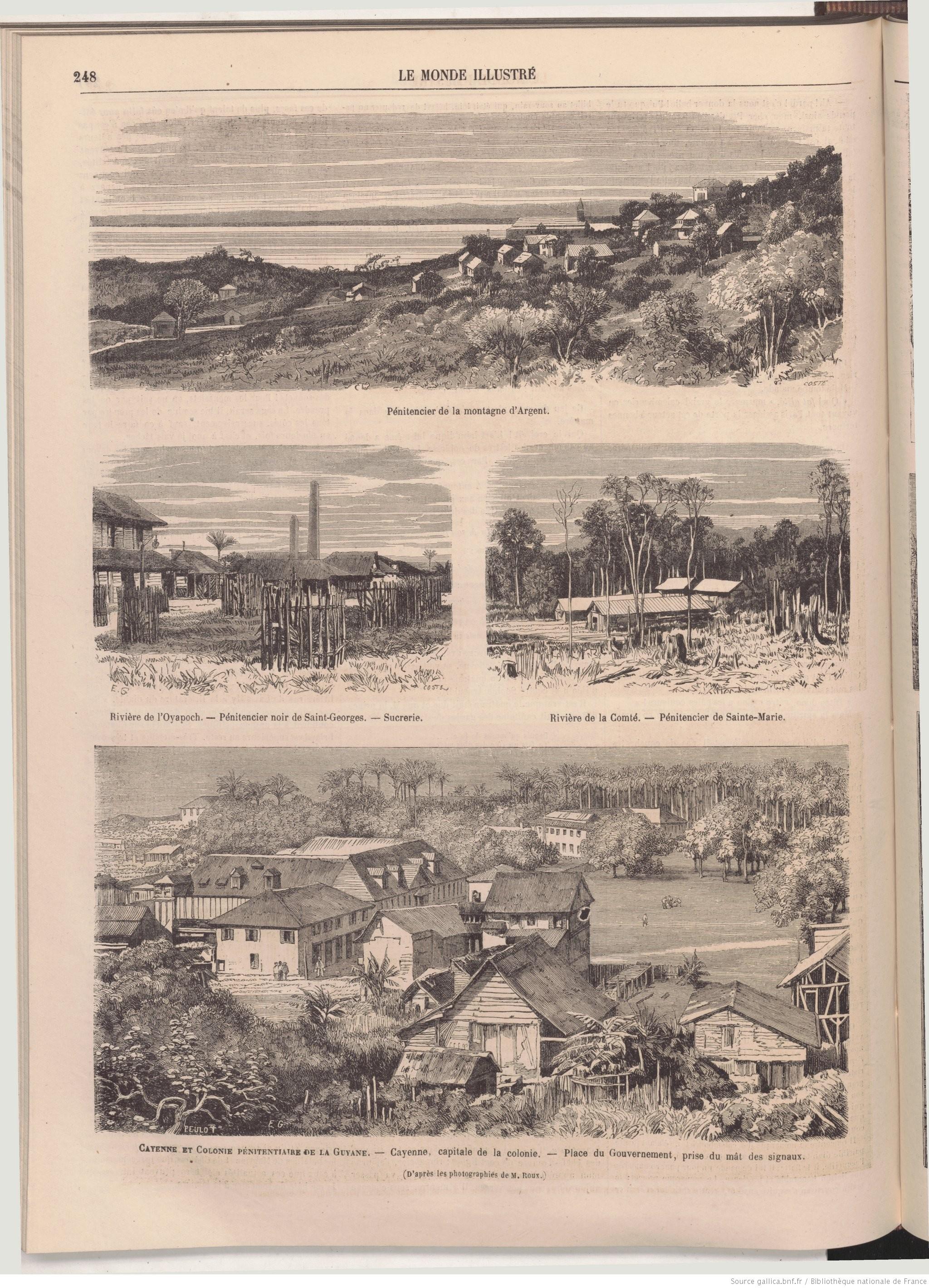 Le bagne, tel que représenté dans Le Monde illustré n° 471 (21 avril 1866).