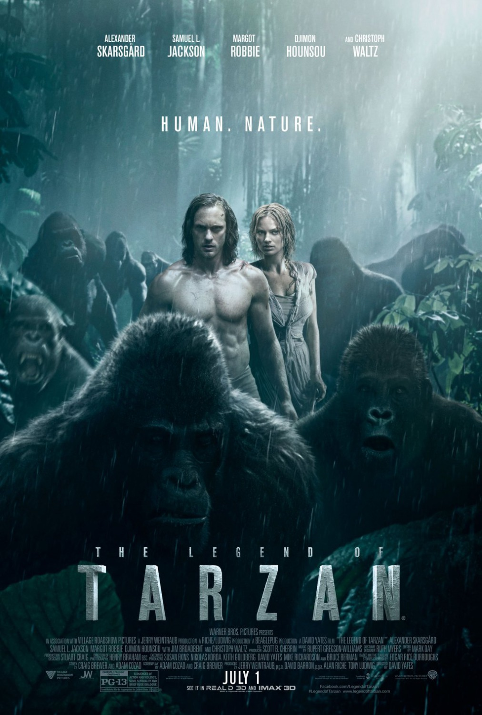 Affiche US pour « Tarzan », film de David Yates (2016).