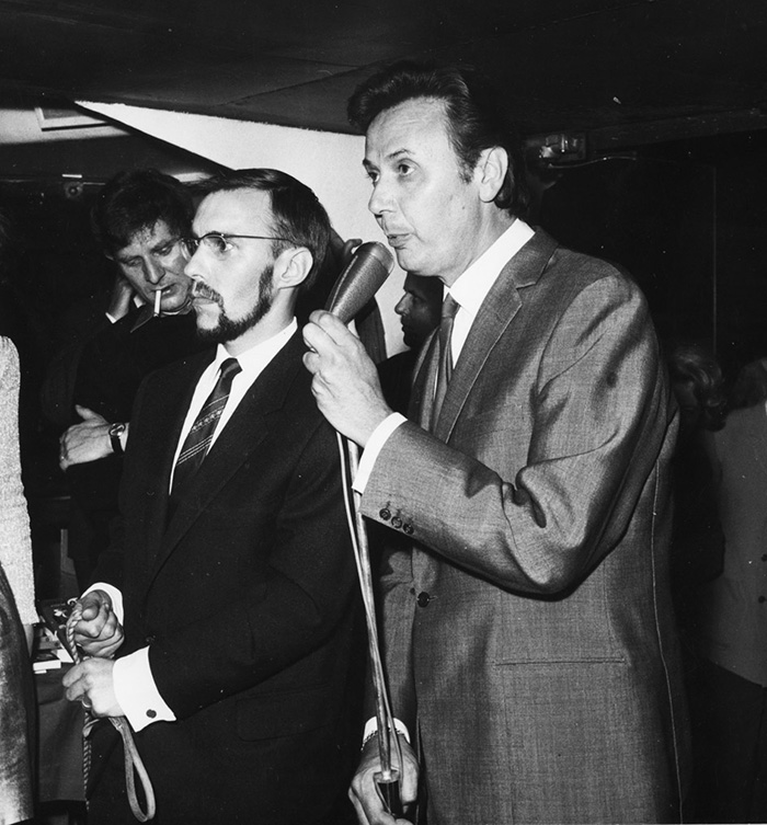 Maurice Biraud et Georges Rieu, vers 1968.
