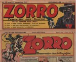 Titres de Zorro par Jean Pape : Zorro n° 78 et 122 (1947-1948).