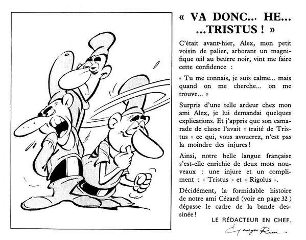 Éditorial de Georges Rieu pour le n° 55 de Pif gadget (mars 1970).
