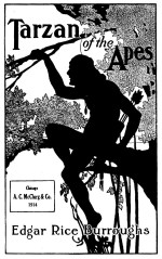 Couverture pour « Tarzan of the Apes » (dessin de Fred J. Arting) en 1914.