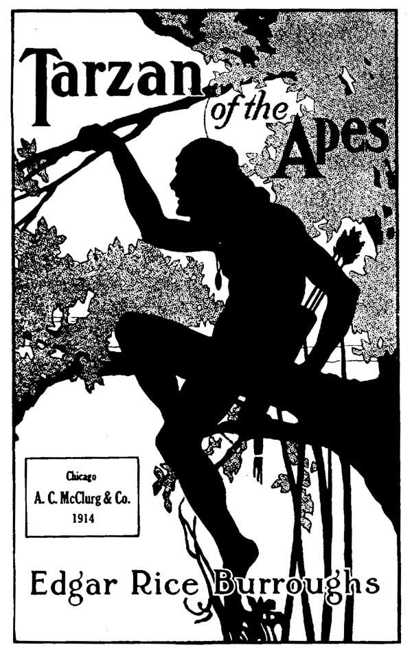 Couverture pour « Tarzan of the Apes » (dessin de Fred J. Arting) en 1914.