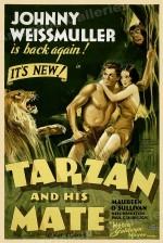 Affiche US pour « Tarzan et sa compagne », film de Jack Conway et Cedric Gibbons (1934).
