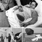Photos et coupure de presse relatant les faits en 1954.