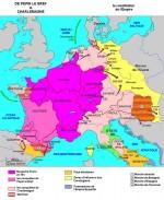 Le royaume franc de Pépin le Bref à Charlemagne (751-814).