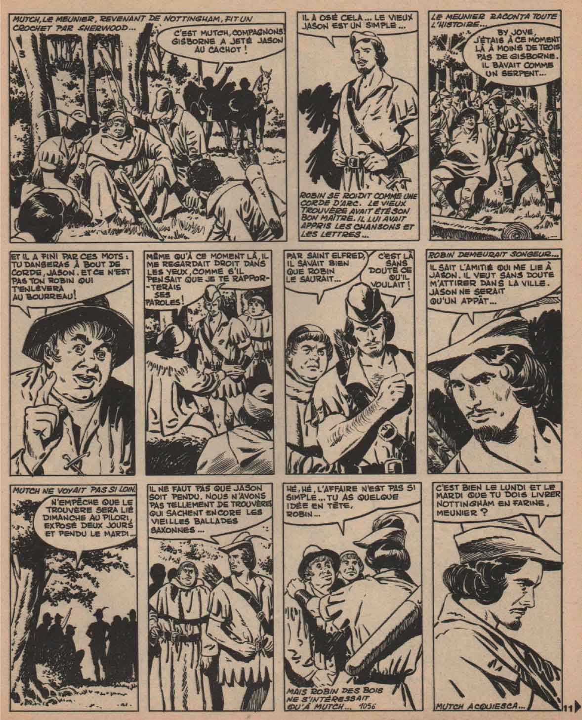 « Robin des bois » Vaillant n° 1056 (08/08/1965).