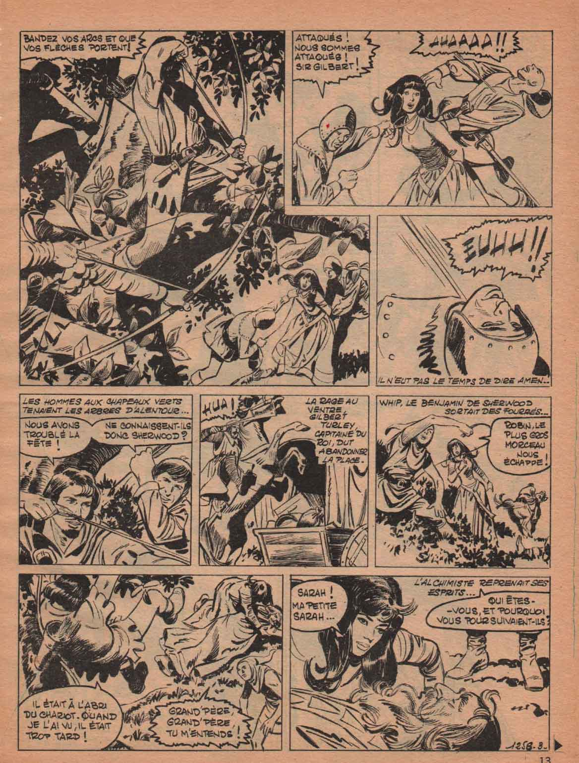« Robin des bois » Pif gadget n° 1258/20 (07/1969).