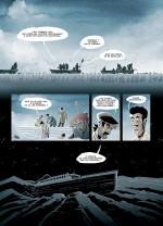 Les corps gelés des victimes du naufrage du Titanic...