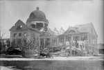 Photo building Halifax explosion 1917.