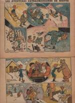 « Les Aventures extraordinaires de Miette » Vaillante n° 51 et 52 (01/1951).