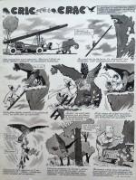 Planche originale de « Cric et Crac », série reprise dans Francs Jeux.