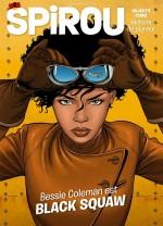 Bessie prend son envol... (couvertures de Spirou n° 4273 et premier volume - Dupuis 2020-2021).
