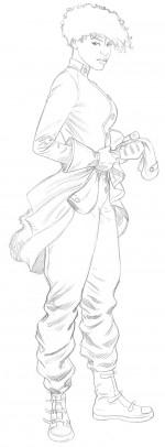 Crayonné pour le personnage principal.