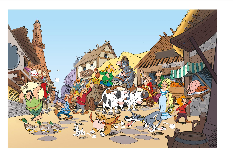 Décors et personnages de la série.