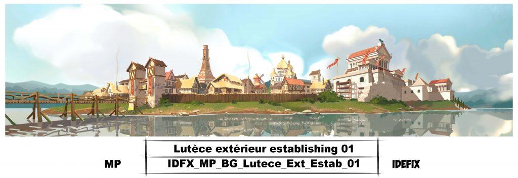 Les décors de Lutèce en 2D et 3D.